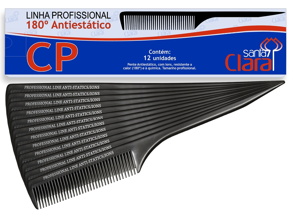 Pente de Plástico CP em Nylon Anti-estático ION Suporta 180° - 01 Ou 12 Unidades