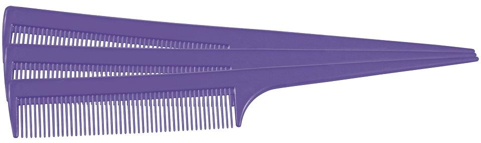 Pente Plástico Comare Stilo Lilás Suporta 180º - 01 Ou 12 Unidades Santa Clara