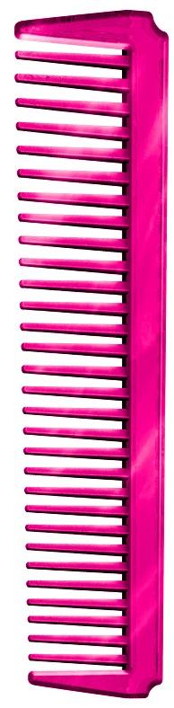 Pente Plástico Espetacular Em PS Cristal- Pink