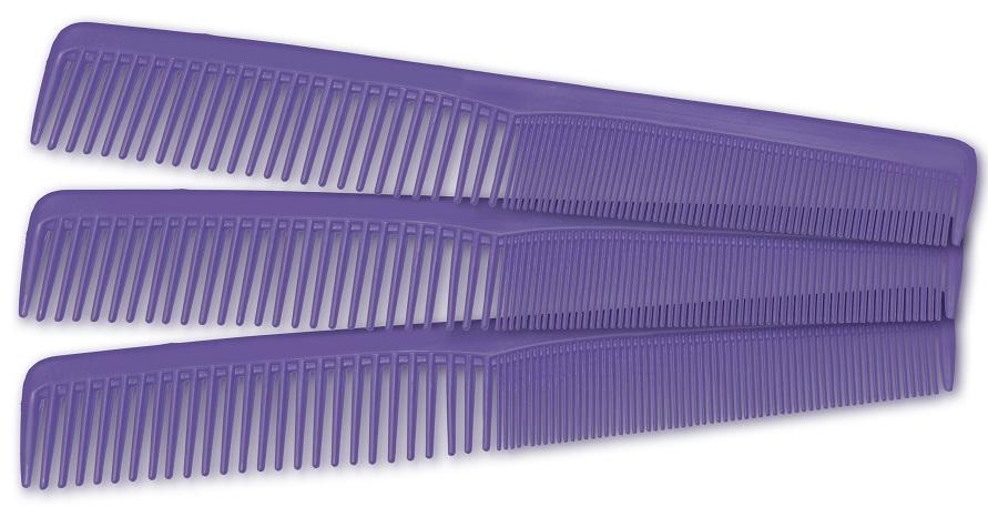 Pente Plástico Modelo Comare Lilás Suporta 180º - 01 Ou 12 Unidades Santa Clara