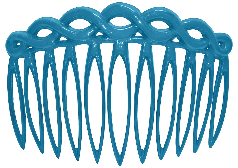 Pente Plástico Tiara Liso Para Cabelos 02 Unidades - Santa Clara