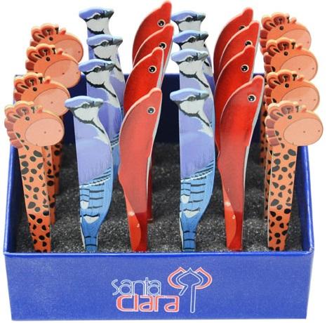 Pinça Para Sobrancelha Com Formato de Animais - Expositor Com 24 Pinças