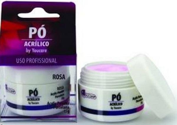 Pó Acrílico Rosa Para Unhas De Porcelana BF-PA01 You Care