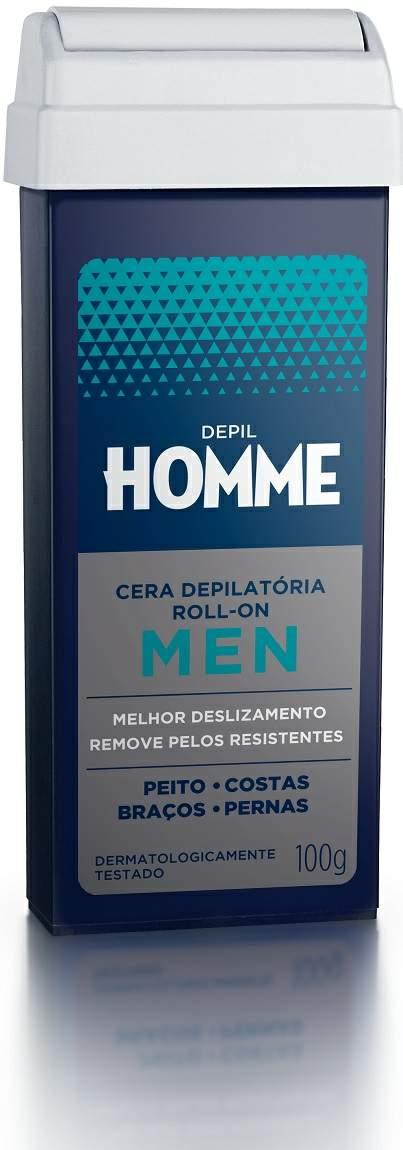 Refil de Cera Roll-on Homme Cera Depilatória Masculina Depil Bella