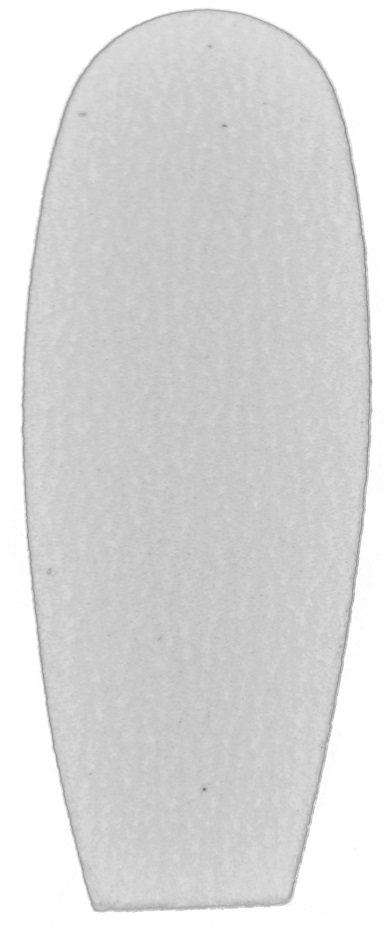 Refil de Lixa Grossa Branca Para Os Pés - 12 Unidades Ref 1225/1228