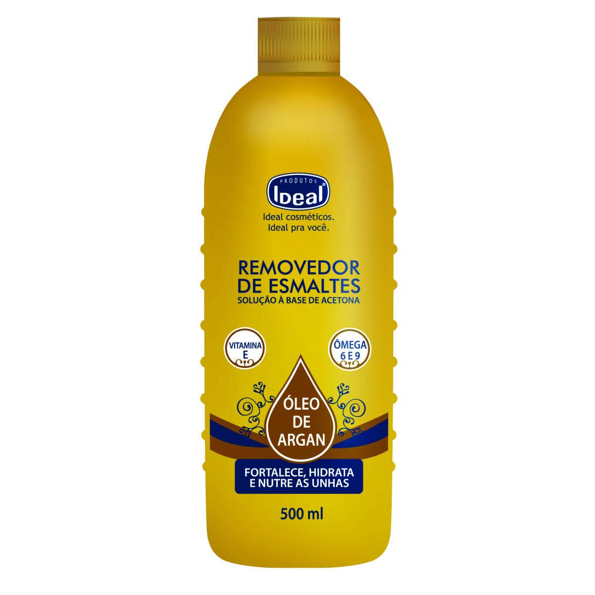 Removedor de Esmaltes Óleo de Argan 500ml - Ideal
