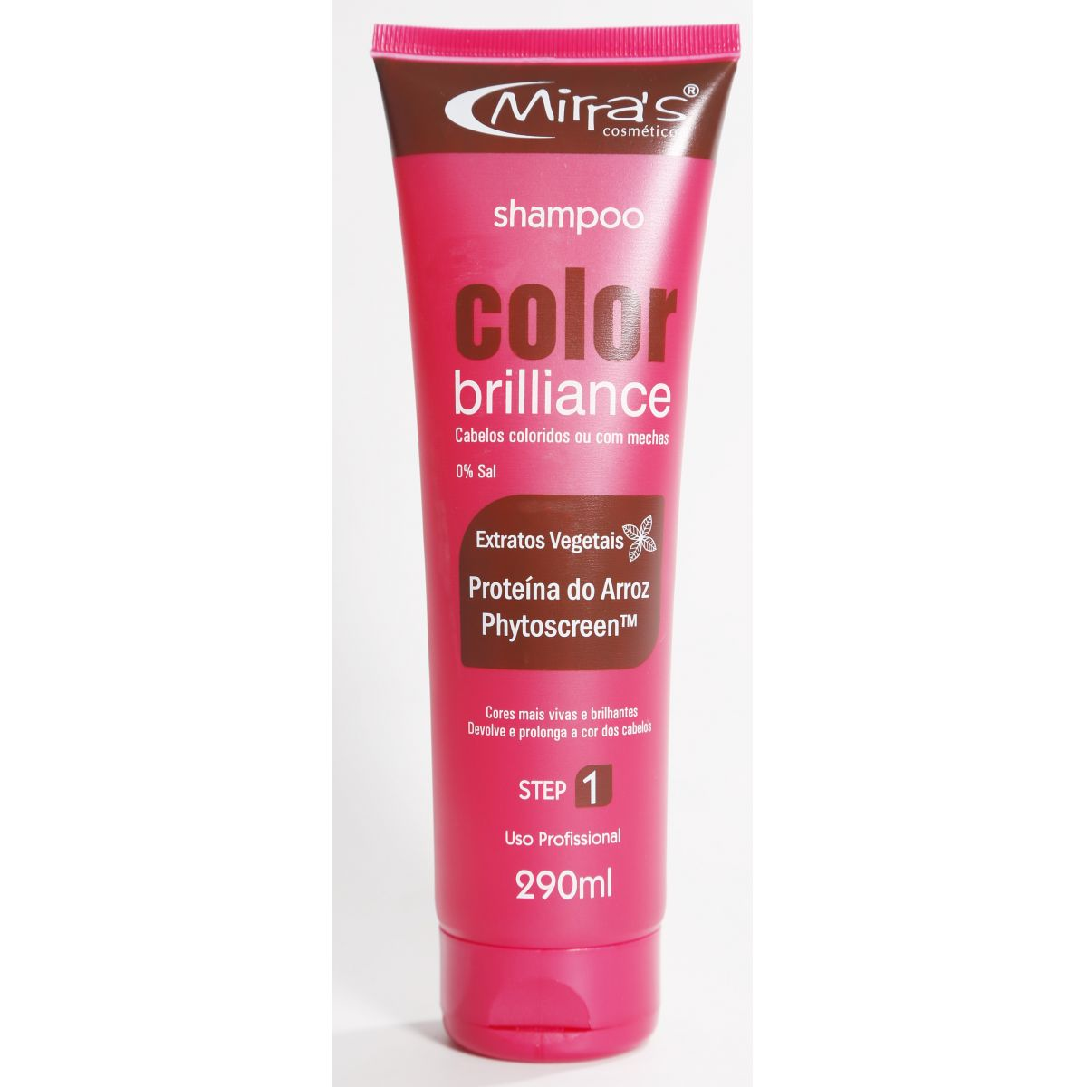 Shampoo Sem Sal Color Brilliance Prote�na do Arroz 290ml