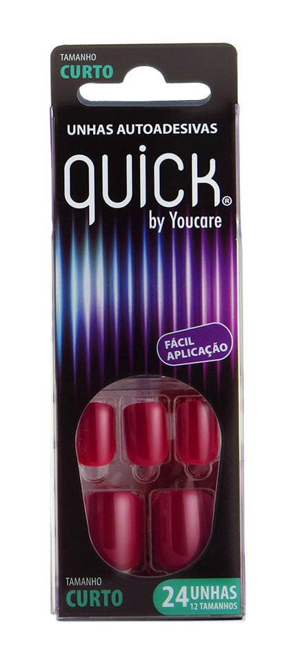 Unhas Curta Autoadesivas Love BQ06-013 - You Care