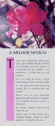 A MELHOR NOTÍCIA (cento)  - LOJA VIRTUAL UFMBB