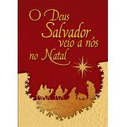 CARTÃO -  O DEUS SALVADOR VEIO A NÓS NO NATAL