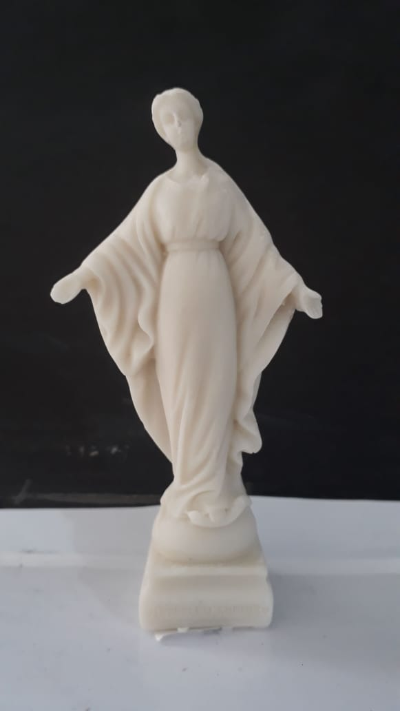 ID951 - N. Sra. do Sorriso 11cm Resina  - VindVedShop - Distribuidora Catolica