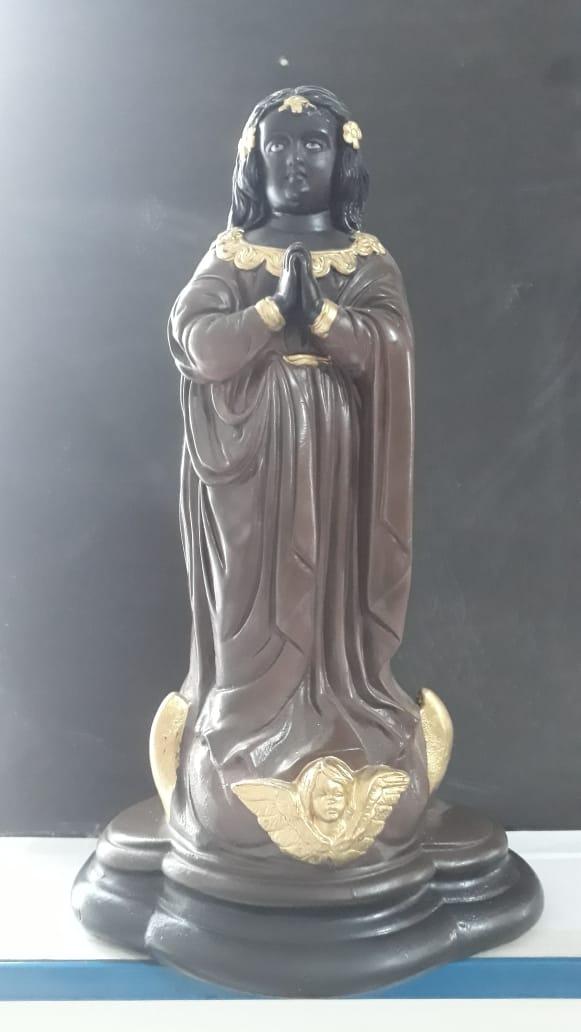 IT487 - Nossa Senhora Aparecida 40cm Gesso  - VindVedShop - Distribuidora Catolica