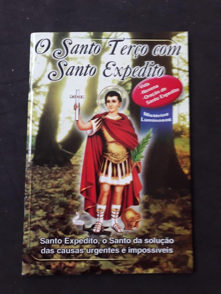O Santo Terço com Santo Expedito  - VindVedShop - Distribuidora Catolica