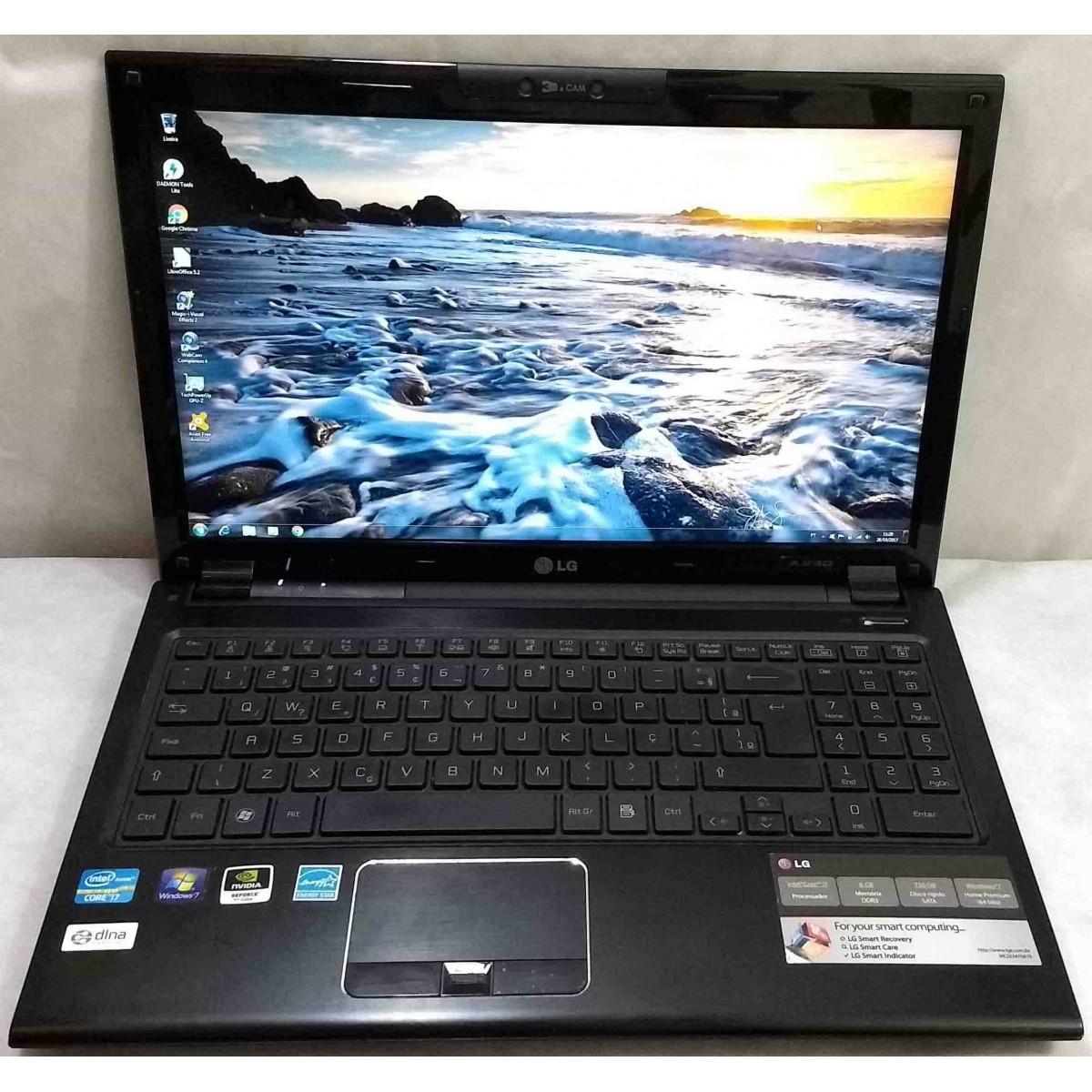 Notebook LG A530 15.6'' Core i7 2.2GHz 6GB HD-750GB 2GB-Dedicada + Alphanumérico