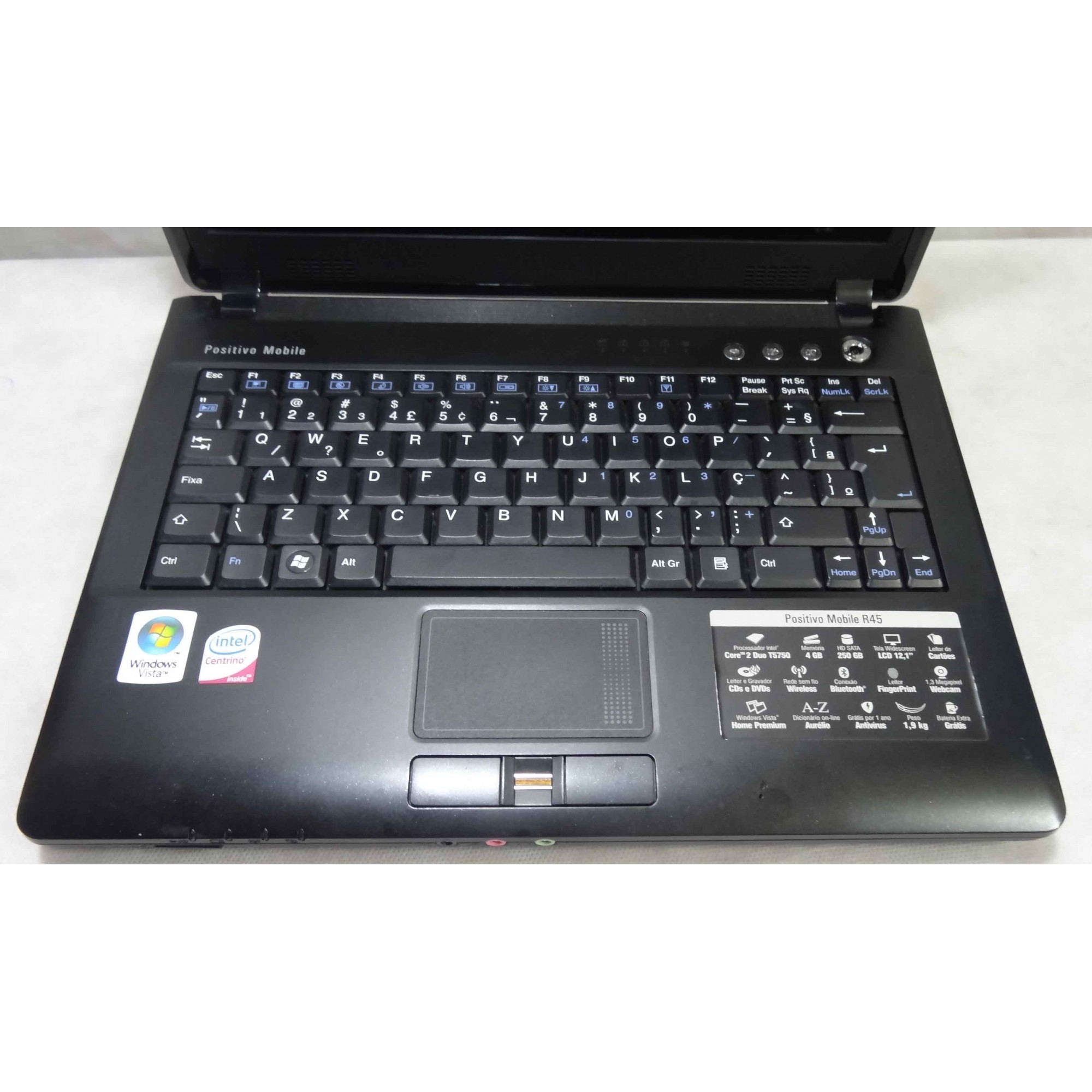 Notebook Positivo Mobile R45 12.1'' Core 2 Duo 2GHz 4GB HD-250GB