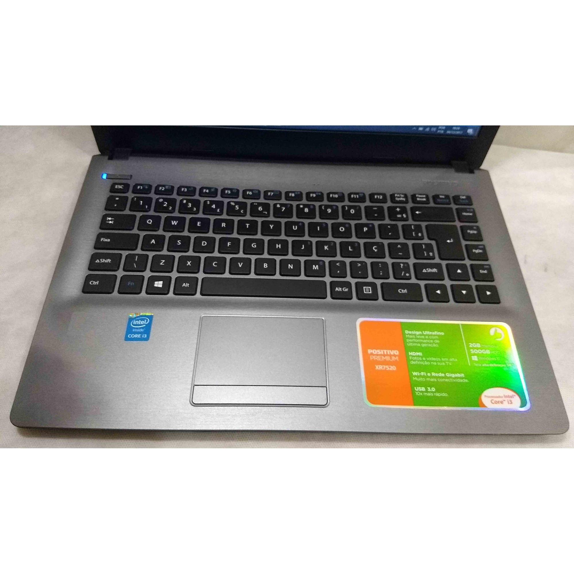 Notebook Positivo Premium XR7520 Core i3 1.7GHz 2GB HD-500GB
