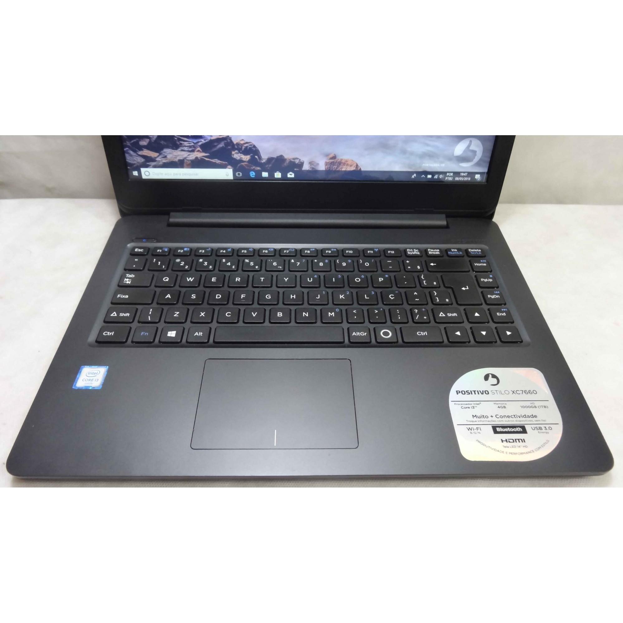 Notebook Positivo Stilo XC7660 Intel Core i3 2.3GHz 4GB HD-500GB