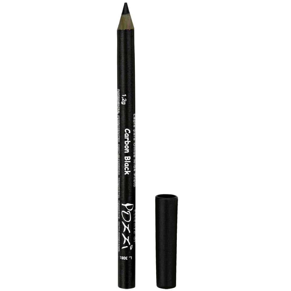 Lapis para Olhos N4 Preto Carbon Black  - Essenze di Pozzi