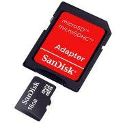 Cartão de Memória 16 GB SDHC - All-In-One (Micro/SD) - Sandisk - PC FLORIPA