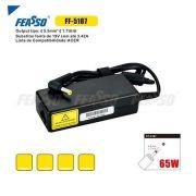 Fonte Compativel Feasso Acer 19V 3.42A - 5.5X1.7 - PC FLORIPA