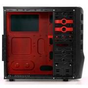 Gabinete ATX G-Fire HTX010E06S Preto / Vermelho - PC FLORIPA