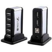 Hub USB 7 Portas Preto c/ Alimentação - PC FLORIPA