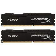 Kit Memória 8GB HyperX Fury Preto Kingston (2x4) DDR3 1600 - HX313C9FBK2/8 - PC FLORIPA