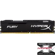 Memória 8 GB DDR4 2133Mhz Kingston - HyperX Fury Preto - HX421C14FB2/8 - PC FLORIPA