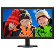 Monitor Philips 23,6 LED 243V5QHAB - Widescreen - HDMI - DVI - VGA - PC FLORIPA