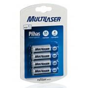 Pilha Multilaser Recarregavel AA - 4 un. - PC FLORIPA
