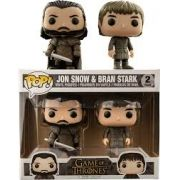Funko Pop Game Of Thrones  Jon Snow & Bran  Stark  BAM Exclusive