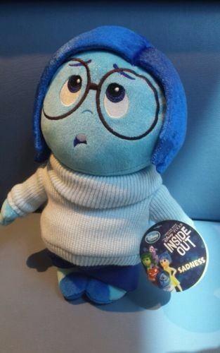 Pelúcia Disney Sadness De Inside Out, Da Disney Pixar, 28 Cm