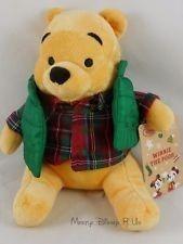 - Pelúcia Pooh Com Colete, Urso Puff, Original Disney - 25 Cm