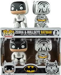 Funko Pop  Zebra & Bullseye  Batman Hot Topic