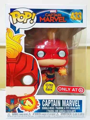 Funko Pop Captain Marvel Glows In The Dark Exclusivo Target  - Game Land Brinquedos