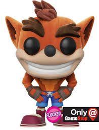 Funko Pop Crash Bandicoot Flocked Exclusivo GameStop