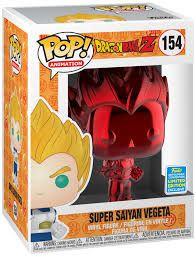 Funko Pop Dragon Ball Z Super Saiyan Vegeta Exclusivo Sdcc 154  - Game Land Brinquedos