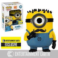 Funko Pop Minions Carl  Com Bigode Exclusivo EE