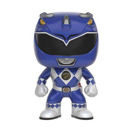 Funko Pop Power Ranger Azul Metalico OnlyGamestop