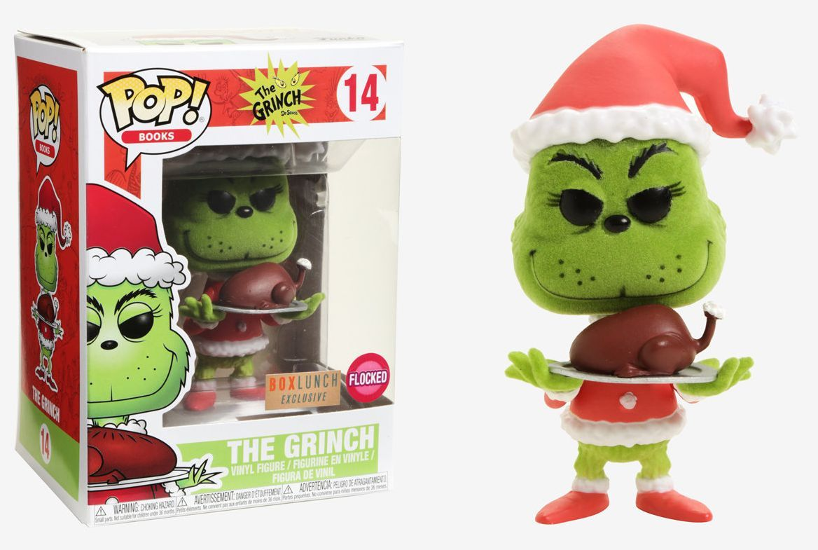 Funko Pop The Grinch Flocked Exclusivo BoxLunch