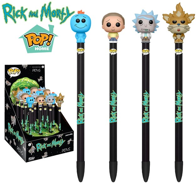 Pop! Caneta - Pen Toppers - Rick And Morty Funko - Rick