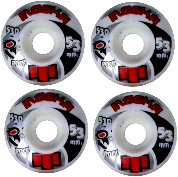 Roda Moska Skate 53 mm Branca