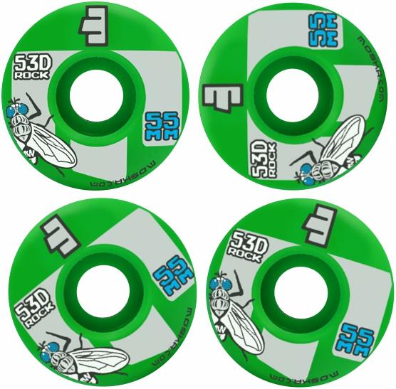 Roda Moska Skate 55 mm Verde
