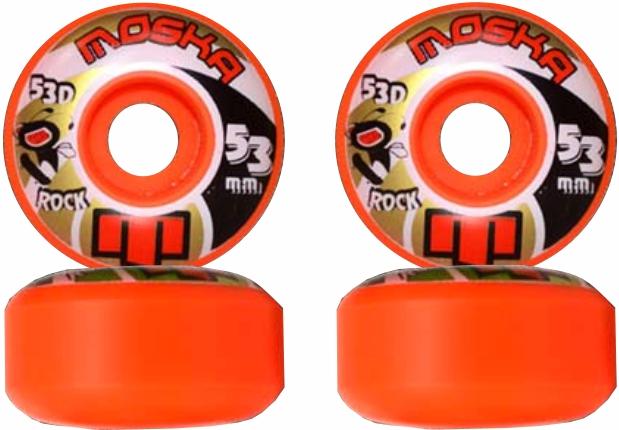 Roda Moska Skate 53 mm Laranja