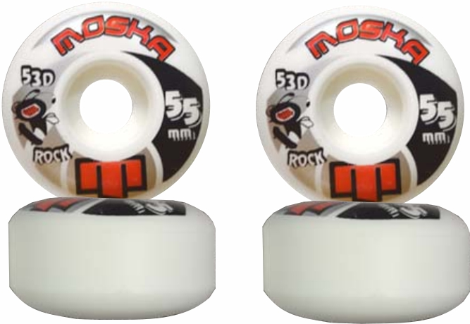 Roda Moska Skate 55 mm Branca