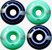Roda Parts 49 mm - Preto/Verde