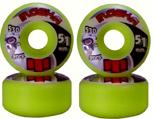 Roda Moska Skate 51 mm Amarela