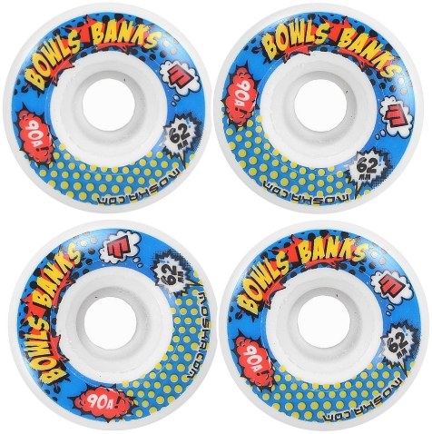 Roda Moska Skate 62 mm Bowls Banks - Branca