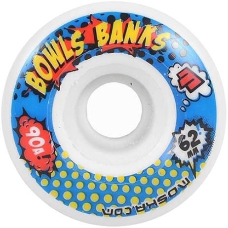Roda Moska Skate 62 mm Bowls Banks  Branca