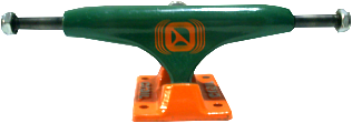 Truck Crail All Color - LOW LIGTH - 129 mm - Verde/Laranja